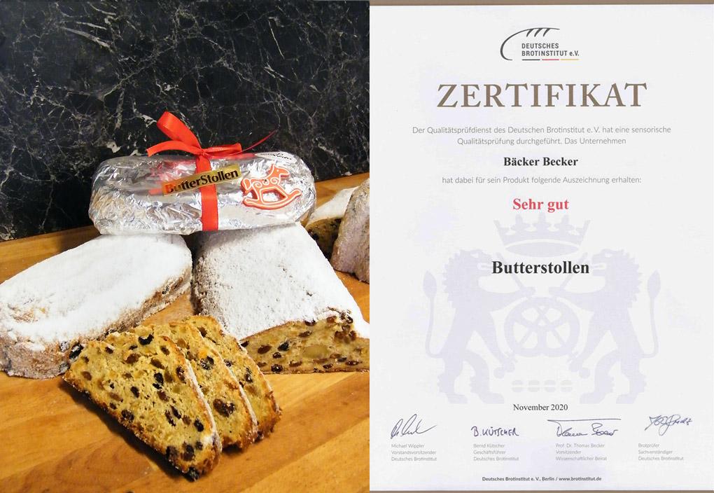 Butterstollen von Bäcker Becker aus Kassel